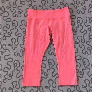 Lululemon Hot Pink Striped Wunder Unders